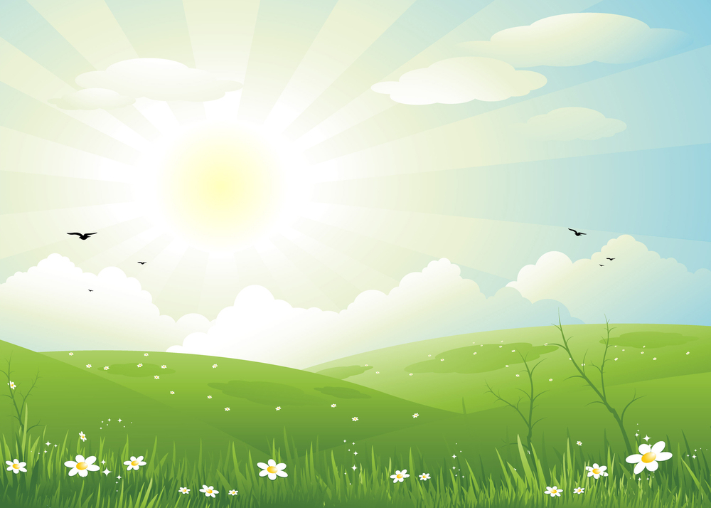 Nature sun day background